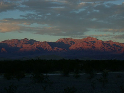 Sunset from Stovepipe Wells, Death Valley, on Thanksgiving Day