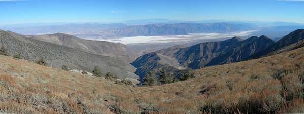 Looking down at Badwater (lowest place in the US)