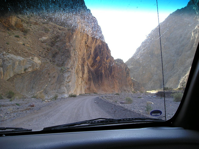 Driving down Titus canyon (one way)