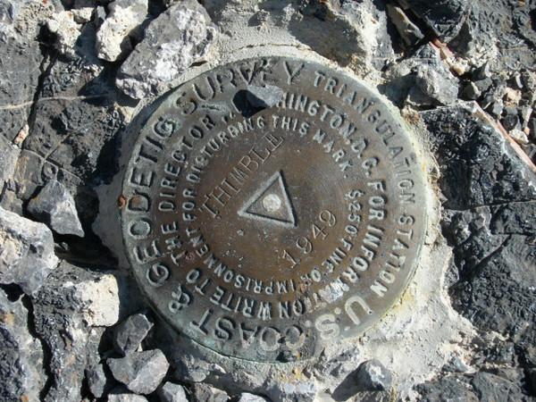 Thimble Peak summit benchmark