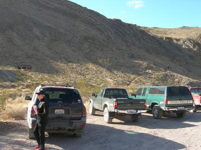 The three trucks at Leadfield. Our TB needs a bath.