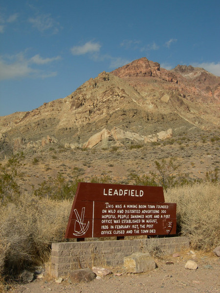 Then it was down Titus canyon to Leadfield.