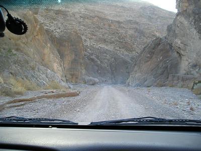 Heading into the narrows