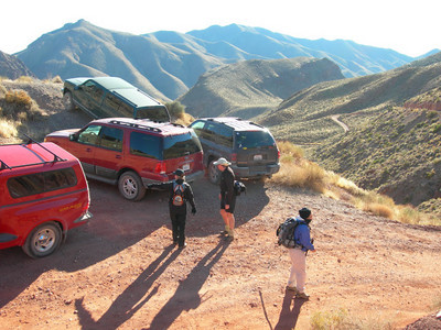 Creative parking at Red Pass