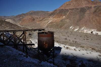 Lots of equipment is still hanging around this mine.
