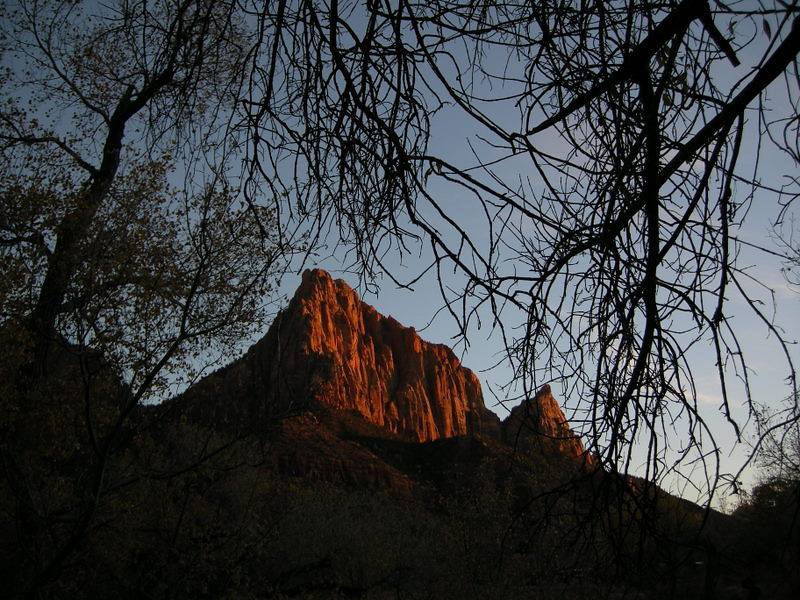 Zion sunset at the Watchtower