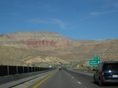 Heading towards Utah we start to see some red bluffs