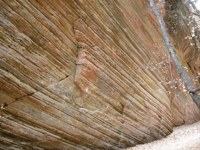 Angled rock