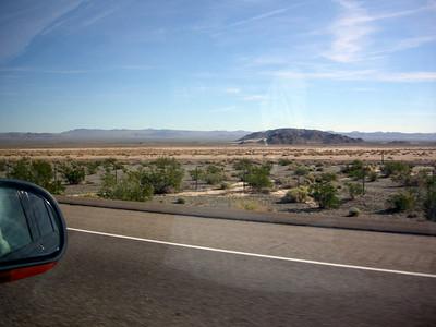 The desert - sometimes boring, sometimes beautiful.