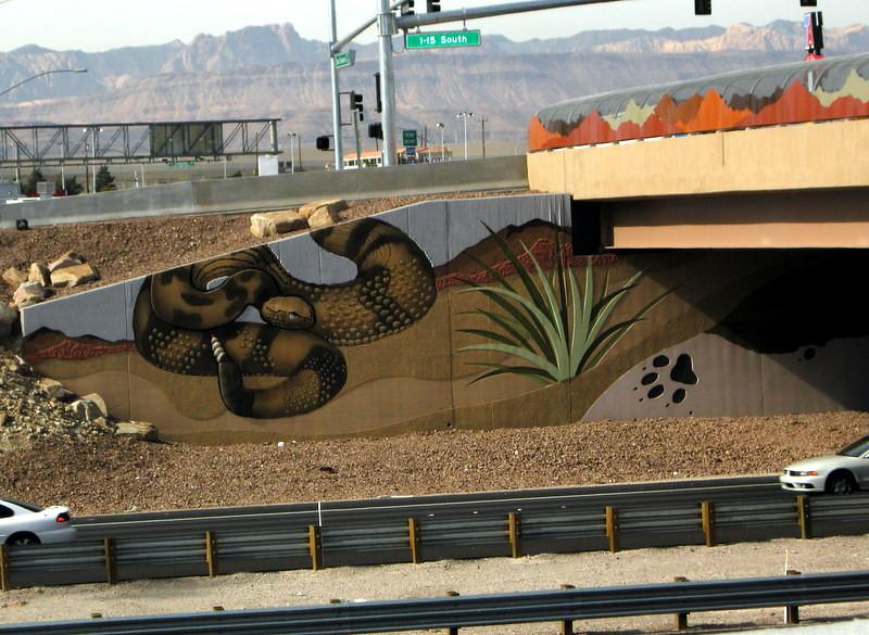 Nice mosaic along hwy 15 in Las Vegas