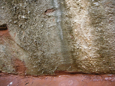 Interesting textures on the wall