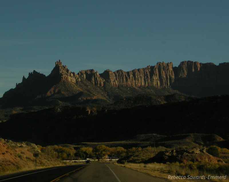 Views as we got into Springdale (town at the Zion NP border)