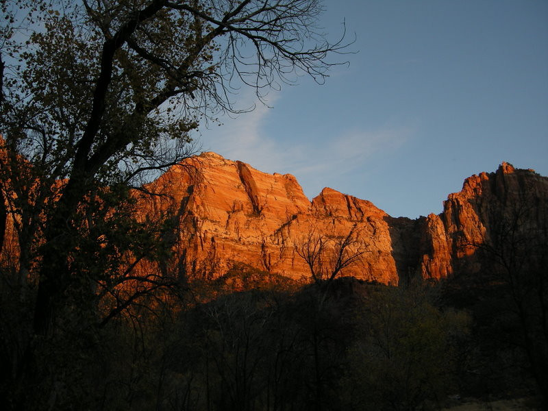 Zion Zunset ... I mean, sunset