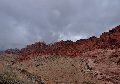 After a day in vegas we headed out to Death Valley, with a quick swing through Red Rock Canyon. It was raining so we didn't really hike, just took in the views.