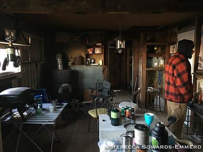 Inside the desert cabin