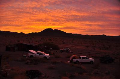 Morning at our cabin. I love the desert!