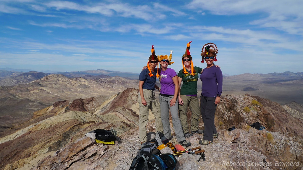 The girls on the summit. Happy Turkey Day!