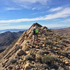 Harlan on the summit ridge - high point just ahead!