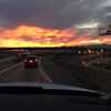 Driving back into Vegas - great sunset!