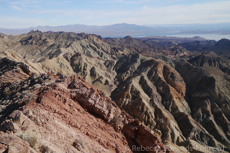 Lake Mead and the terrain to the south.