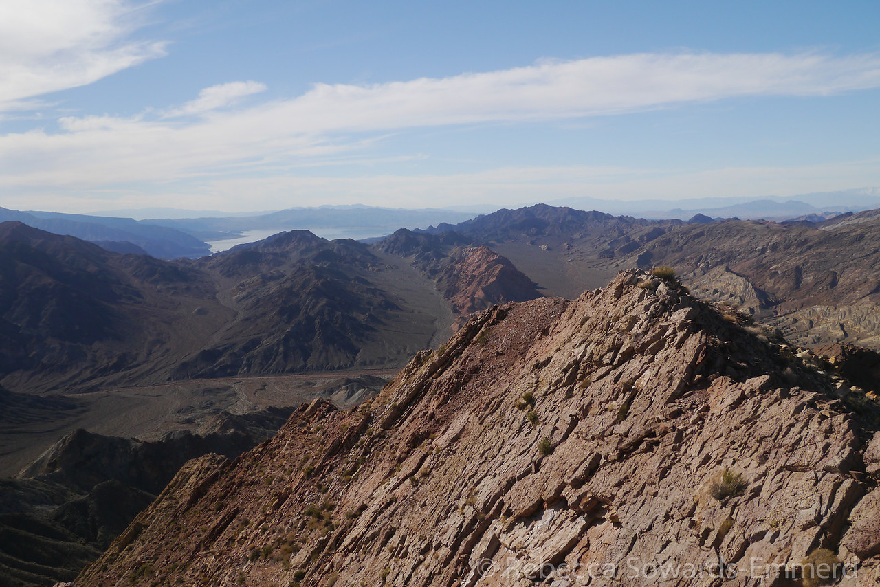 Lake Mead in the distance.