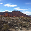 We crossed the northeast end of Pinto Valley through some fun red rock formations.