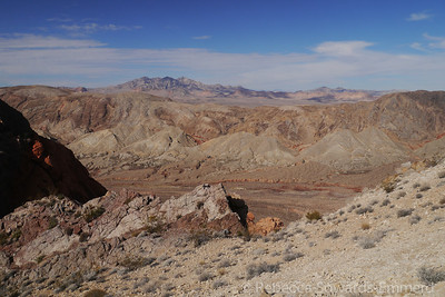 Pinto Valley and the Muddy Mountains in the distance.