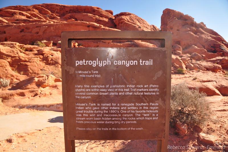Next stop: Mouse's tank and petroglyph canyon.