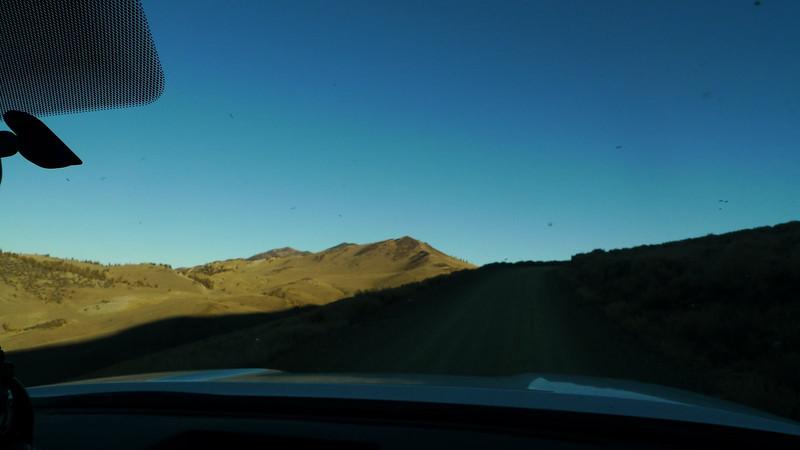 Hitting the White Mountain road.