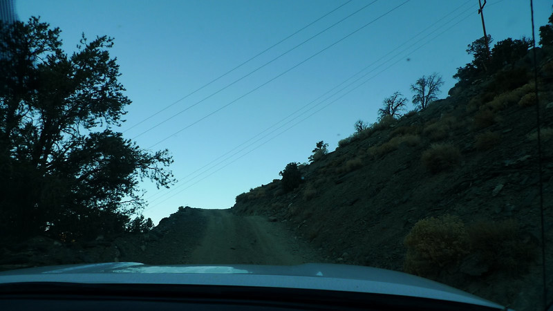 I think this was the steepest switchback. Again, road conditions fine - just steep and slick.