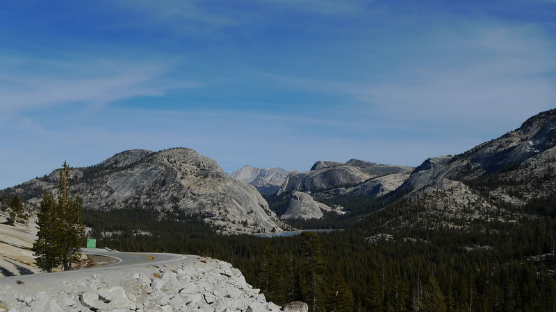 View towards Mt Conness from Olmstead point. Remarkable - less snow in January 2012 in this view than there was in August 2011.