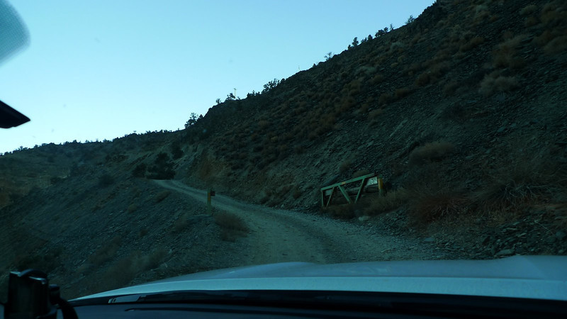 You wind through the canyon for a while then start to climb several thousand feet in about 3 miles. This is the gate at the bottom of the switchbacks.