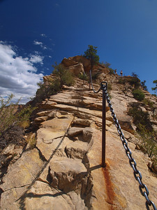 The last incline. The people at the top are really at the top.