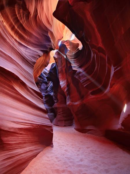 - Cutting Through -  Light beam in Antelope Canyon