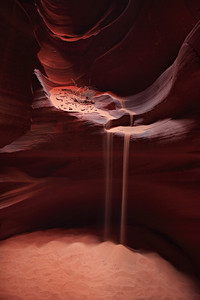 - Silica Falls -  Sand falls at Antelope Canyon