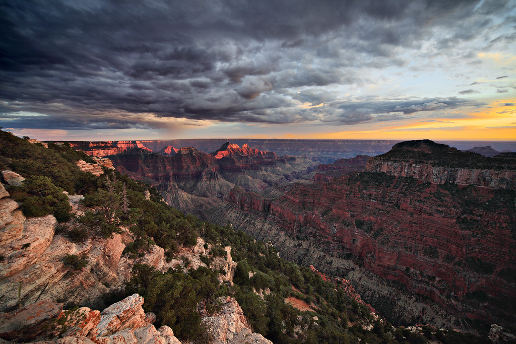 - The Grander View -<br /> <br /> North Rim Sunset