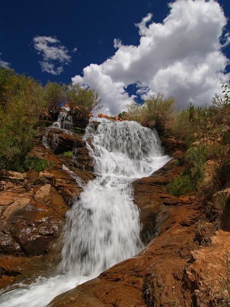 "The ""Faux Falls"" above Ken's Lake - Moab Utah"