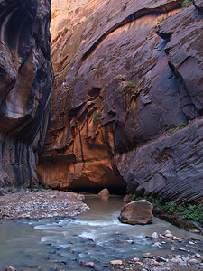 The Virgin River in the Narrows - Zion National Park