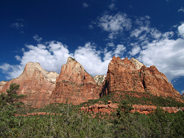 Court of the Patriarchs - Abraham, Isaac & Jacob - Zion National Park