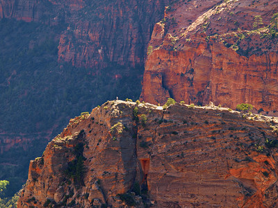 Angels Landing - Zion National Park  (View larger and look closely, those are people on the edge)  PHOTO NOT FOR SALE - FOR INFORMATIONAL PURPOSES ONLY