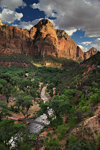 - River's Reflection -   Looking South over Zion Valley