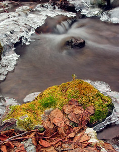 Jump Creek during the winter.  Image has been cropped to 11x14.