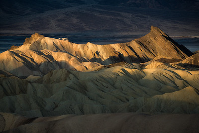 First light of the day in Death Valley