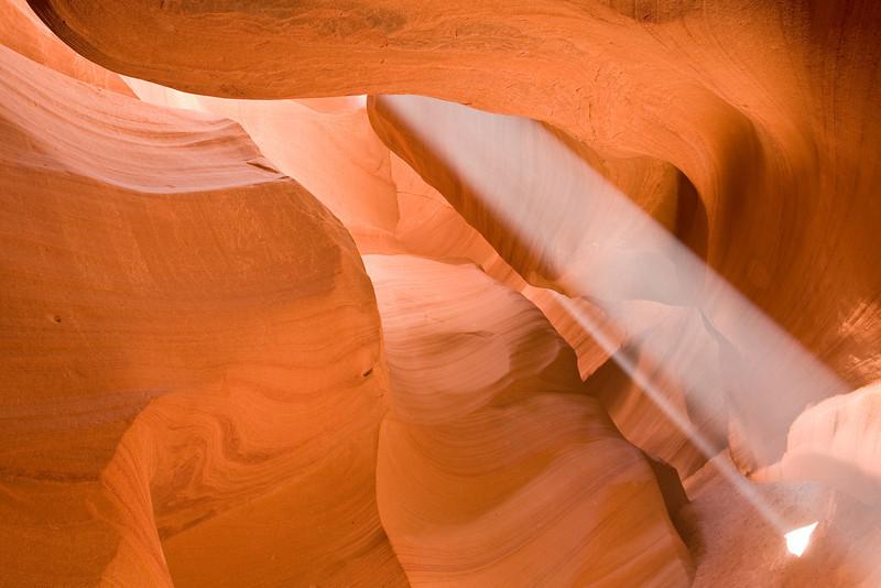 Sanctuary - Beams of Light at Antelope Canyon in Arizona