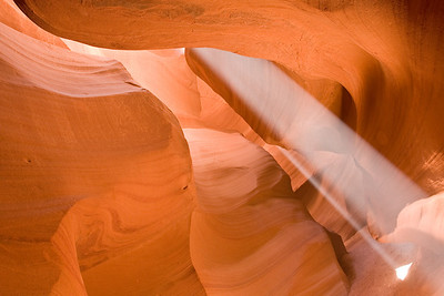 Sanctuary - Beams of Light at Antelope Canyon in Arizona