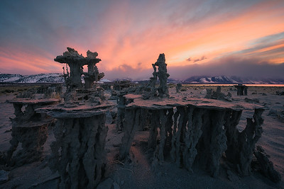 An incredible sunset at Mono Lake, California