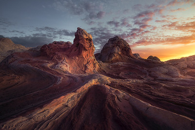 Alien like sandstone formations in White Pocket, Arizona