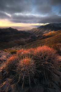 Sunrise overlooking Death Valley, California