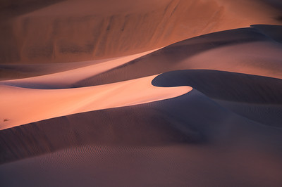 First light of the day dancing with sand dunes