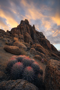 A beautiful sunrise at Alabama Hills, California